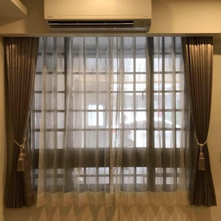 群藝時尚窗簾-窗簾,壁紙,地板,拉門,室內裝潢